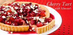 Cherries are in season. Time to try something new. Cherry Tart with Almonds.