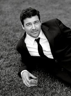 Kyle Chandler..I love a sharp dressed man, on the grass, with a cocktail...
