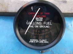 replica ww2 raf spitfire fuel gauge 37 gallon |