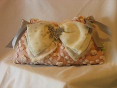 Pink Chenille Ribbon Clutch by fancibags on Etsy by fancibags, $45.00