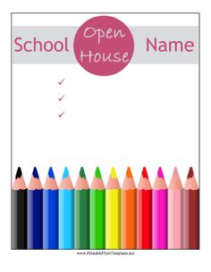 Best Cool School Flyers Images On Pinterest Flyers Leaflets - Open house flyer template word