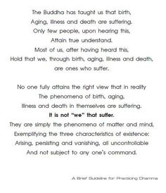 A brief guideline for practicing dhamma.