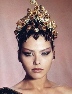 Ornella Muti as Princess Aura in Flash Gordon... Chinese Opera Inspired... Love the eyes!