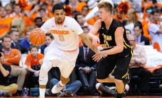 Sunday's two Elite Eight games feature teams solely from that conference. In the first one, No. 10 #Syracuse faces No. 1 #Virginia in Chicago. #UVA is -8 in Heritage's #NCAA Basketball odds. - http://www.sportsbookreview.com/ncaa-basketball/free-picks/add-syracuse-8-your-ncaa-tournament-picks-low-scoring-game-vs-virginia-a-70952/