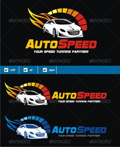 Auto Speed — Vector EPS #speed racer #racing • Available here → https://graphicriver.net/item/auto-speed/5213591?ref=pxcr