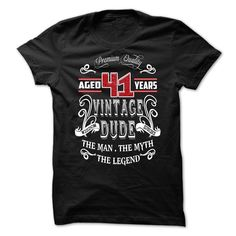 AGED 41 YEARS VINTAGE DUDE T Shirts, Hoodies. Check price ==► https://www.sunfrog.com/Birth-Years/AGED-41-YEARS-VINTAGE-DUDE.html?41382 $22