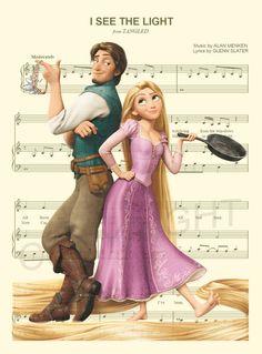 100 best disney sheet music images sheet music disney songs disney stuff - Raiponce et flynn rider ...