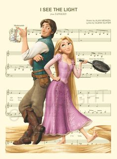 Here is an art print of Rapunzel and Flynn Eugene Rider from Disneys Tangled. This is perfect for any Tangled/Disney fanatic!  Be sure to let us know which print you prefer: 1) Music Sheet Paper or 2) Dictionary Page.  We print this on quality photo paper, which measures approximately 8.5x11, and ship it in a heavy-duty envelope to ensure it arrives intact. FRAME NOT INCLUDED.  11x15 Poster: $20.00  Take advantage of our Buy 2 Prints, Get 1 Free special! Simply purchase any two prints in...