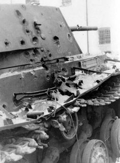 Russian KV-1 tank - destroyed.