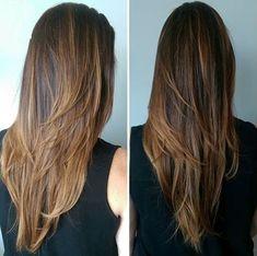 Resultado de imagen para cortes de cabello largo en capas lacio