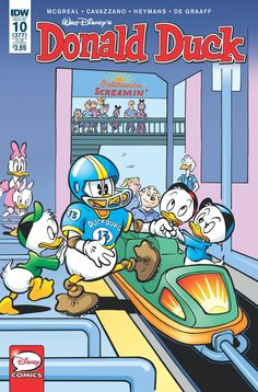 Shop for Donald Duck (Subscription Variant) from IDW Publishing - written by Pat McGreal. Comic book hits store shelves on February 2016 Disney Duck, Disney Art, Disney Stuff, Walt Disney, Vintage Comic Books, Vintage Comics, Cartoon Tv, Cartoon Drawings, Donald Duck Drawing