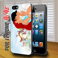 ariel princess and eric kissing disney Black Case