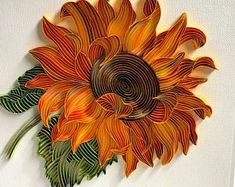 Check out our quilling art selection for the very best in unique or custom, handmade pieces from our paper shops. Arte Quilling, Paper Quilling Flowers, Paper Quilling Patterns, Quilled Paper Art, Quilling Paper Craft, Diy Paper, Paper Crafts, Quilling Flower Designs, Quilling Work