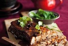 Sweet and sticky pork belly Sticky Pork, Easy Weekday Meals, Stuffed Mushrooms, Stuffed Peppers, Oxtail, Lamb Chops, Pork Belly, Cooking Time, Cooking Recipes