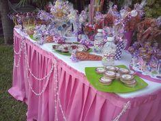 mesa de dulces spa niñas