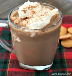 Just the hot chocolate recipe you've been searching for--simple, but oh-so chocolatey. Pin for later!  @dashofevans