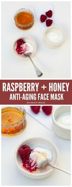 DIY Beauty: This anti-aging raspberry honey face mask can help reduce wrinkles, treat discoloration and hyperpigmentation, and tighten loose skin. #AntiAgingFacial Anti Aging Creme, Creme Anti Age, Best Anti Aging, Aging Cream, Anti Aging Face Mask, Anti Aging Skin Care, Homemade Skin Care, Diy Skin Care, Homemade Beauty