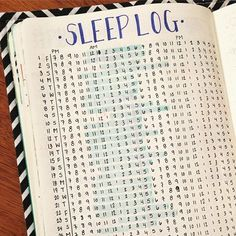 Sleep Tracker for your Bullet Journal (BuJo).