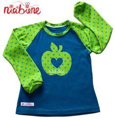 Shop.nicibiene.de - Applikationsvorlage Apfel mit Herz