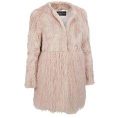 Fabulous Furs FauxFur Tibetan Lamb Jacket w/ Rabbit FauxFur Top ($380) ❤ liked on Polyvore featuring outerwear, jackets, faux fur jacket, animal jacket, faux-leather jacket, pink faux fur jacket and fake fur jacket
