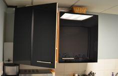 Acrylic kitchen doors - using brand new door skin on cabinets/cupboards. Update Kitchen Cabinets, Glass Kitchen Cabinets, Bathroom Cabinetry, Kitchen Cabinet Colors, Cupboards, Cabinet Doors For Sale, Replacement Kitchen Cabinet Doors, Kitchen Cupboard Doors, Led Garage Ceiling Lights
