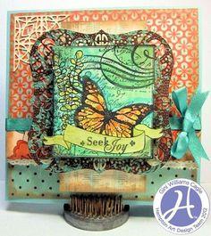 Seek joy card by Gini Williams Cagle for Hampton Art