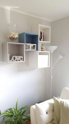 20 Practical Wall Ideas With Ikea EKET Cabinet practical ideas cabinet Ikea Living Room, Ikea Bedroom, Diy Bedroom Decor, Diy Home Decor, Ikea Wall Decor, Ikea Wall Shelves, Bedroom Wall, Ikea Eket, Wall Design