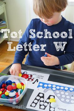 Tot School Printables Letter W is for Window from Wildflower Ramblings Preschool Learning Activities, Preschool At Home, Preschool Curriculum, Kindergarten, Letter W, Alphabet Letters, Tot Trays, Tot School, Play To Learn