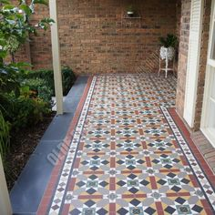 Olde English Tiles - Beautiful Verandah Heritage Tessellated Tiles. Love these Victorian Geometric tiles in this heritage house