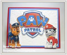 Renlymats World: Paw Patrol Birthday Card. Police, Dalmatian, dog, bone, p … - Crafts for Toddlers Paw Patrol Birthday Card, Paw Patrol Party, Birthday Cards For Brother, Kids Birthday Cards, 3rd Birthday, Toddler Boy Birthday, Scrapbook Cards, Scrapbooking, Homemade Birthday Cards
