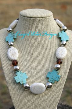 Western Chunky White Magnesite and by cowgirlrelicsdesigns on Etsy, $32.00