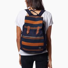striped, versatile backpack that can carry you through your work week and into your weekend. 'the Brooklyn' | Krochet Kids intl.
