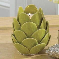 Global Views Artichoke Ceramic Tealight Candle Holder
