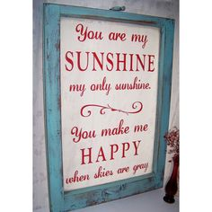 You are my sunshine turquoise and red by OldBarnRescueCompany, $135.00