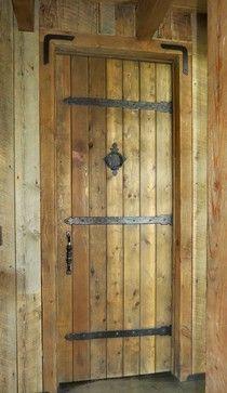 Teton Iron Family Residence Guest Bathroom Door Hammered Iron Hinge Straps, Old  World Door Knocker