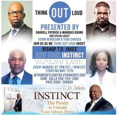 """Our dear pastor, Pastor Keion Henderson appeared on TD Jakes Series """"Think Out Loud"""" last MAY 12TH @Pat Murray CST.  Pastor Keion  offered insights on how to achieve success when defeat is expected ! To hear this conversation once again here is playback info for the #ThinkOutLoud call 559-726-1399 code: 290883"""