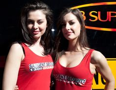 Gorgeous Sargent Security grid and paddock babes