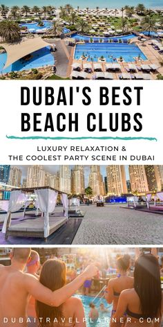 Unforgettable Dubai Beach Clubs to Experience · Dubai Travel Planner Honeymoon In Dubai, Dubai Vacation, Dubai Beach, Dubai Trip, Romantic Honeymoon, Dubai Hotel, Dubai City, Dubai Uae, Dubai Things To Do