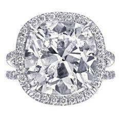 8.89 Carat Cushion Cut Diamond Engagement Ring