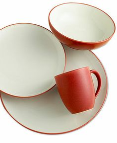 Noritake Dinnerware, Colorwave Raspberry Coupe 4 Piece Place Setting