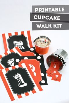 Cake Walk Kit Free Printables. Such a fun idea for a #Halloween party!