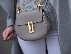 My New Chloe Mini Drew Bag in Motty Grey