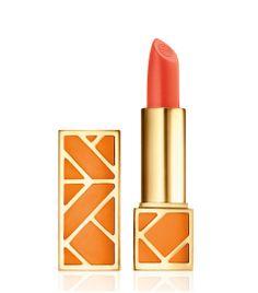 Tory Burch Lip Color in Pretty Baby a vibrant peachy coral