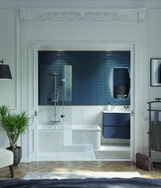 Tout pour sublimer vos envies déco ! Envie de salle de bain vous présente 7 styles majeurs, retenus par nos experts. 7 envies de déco que vous pourrez adopter ou adapter en fonction de votre espace et de votre mode de vie. Alors, plutôt une salle de bain au look Industriel, Exotique, Vintage, Modern design, Campagne chic, Classique Chic ou Scandinave ? Style Classique, Bathroom Lighting, Bathtub, Mirror, Furniture, Home Decor, Comme, Vintage, Master Bathroom Vanity