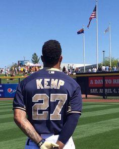 KEMP27 Baseball Players, Baseball Field, Matt Kemp, Guy Names, Beast Mode, Football Helmets, All About Time, Sports, Men