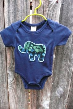 Elephant Batik Onesie in Organic Cotton For Newborns to by IOGoods, $18.00    https://www.etsy.com/listing/110943347/elephant-batik-onesie-in-organic-cotton