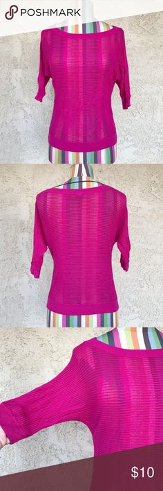 Express Knit Blouse Pink knit blouse with 3/4 sleeves. Great condition. Express Tops Blouses