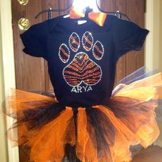 Bengals tutu outfit for baby girl.
