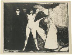 Edvard Munch Woman Lithograph