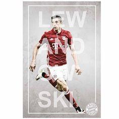 FC Bayern München Poster Robert Lewandowski